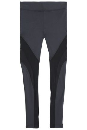 KORAL Mesh-paneled color-block stretch leggings