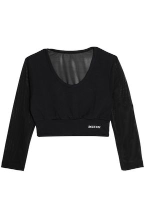 BODYISM Cropped stretch-jersey top
