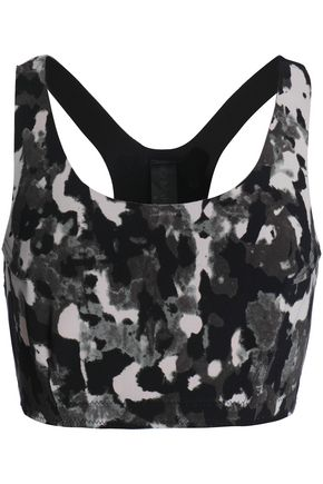 NORMA KAMALI Printed stretch sports bra