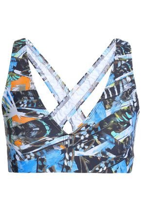 BODYISM Printed stretch sports bra