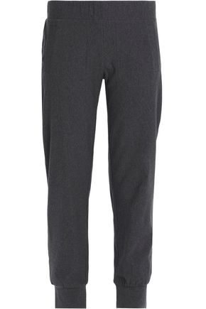 NORMA KAMALI Stretch-cotton jersey track pants