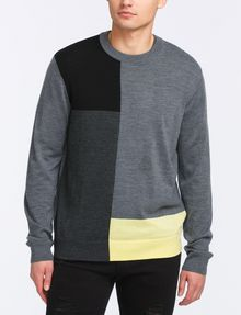 ARMANI EXCHANGE CLASSIC LAYERING CREWNECK SWEATER Pullover Man f