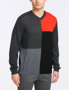 ARMANI EXCHANGE CLASSIC WOOL V-NECK SWEATER Pullover Man f