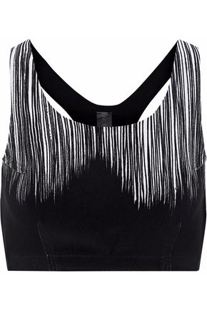 NORMA KAMALI Printed stretch-jersey sports bra