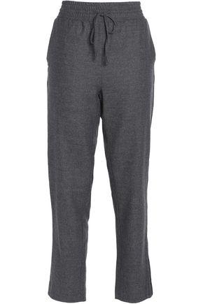 GANNI Mélange wool-blend track pants