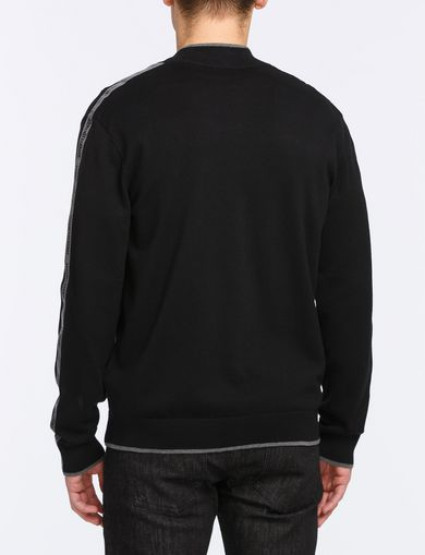 LOGO TAPE FULL-ZIP SWEATER