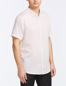 ARMANI EXCHANGE MICRO-GEO PRINT SHIRT Short sleeve shirt Man d