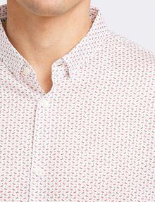 ARMANI EXCHANGE MICRO-GEO PRINT SHIRT Short sleeve shirt Man e