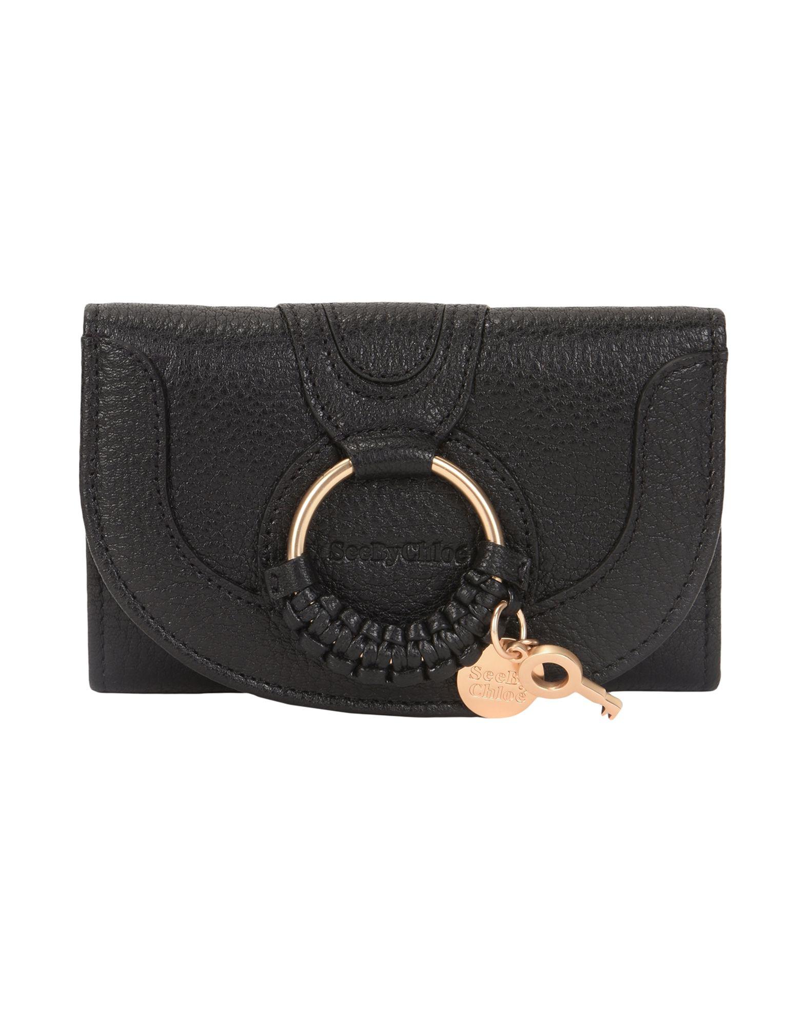 レディース SEE BY CHLO hana complete medium wallet 財布  ブラック