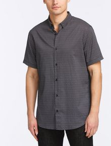ARMANI EXCHANGE MICRO-GEO PRINT SHIRT Short sleeve shirt Man f