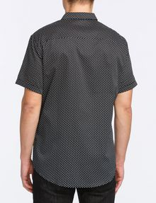 ARMANI EXCHANGE MICRO-GEO PRINT SHIRT Short sleeve shirt Man r