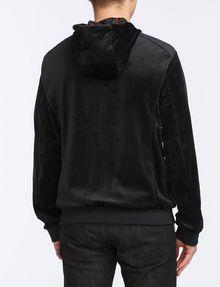 ARMANI EXCHANGE VELVET FULL-ZIP LOGO HOODIE Fleece Jacket Man r