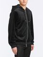 ARMANI EXCHANGE VELVET FULL-ZIP LOGO HOODIE Fleece Jacket Man d