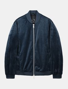 ARMANI EXCHANGE VELVET FULL-ZIP BOMBER Jacket Man b