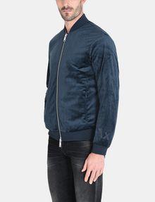 ARMANI EXCHANGE VELVET FULL-ZIP BOMBER Jacket Man d