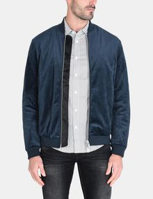ARMANI EXCHANGE VELVET FULL-ZIP BOMBER Jacket Man f