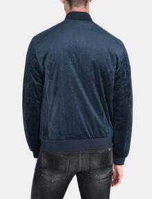 ARMANI EXCHANGE VELVET FULL-ZIP BOMBER Jacket Man r