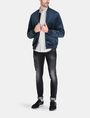 ARMANI EXCHANGE VELVET FULL-ZIP BOMBER Jacket Man a