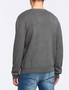 ARMANI EXCHANGE TONAL DIAMOND-STITCH SWEATER Pullover Man r