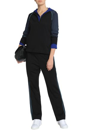 GANNI Rogers two-tone stretch-jersey sweatshirt