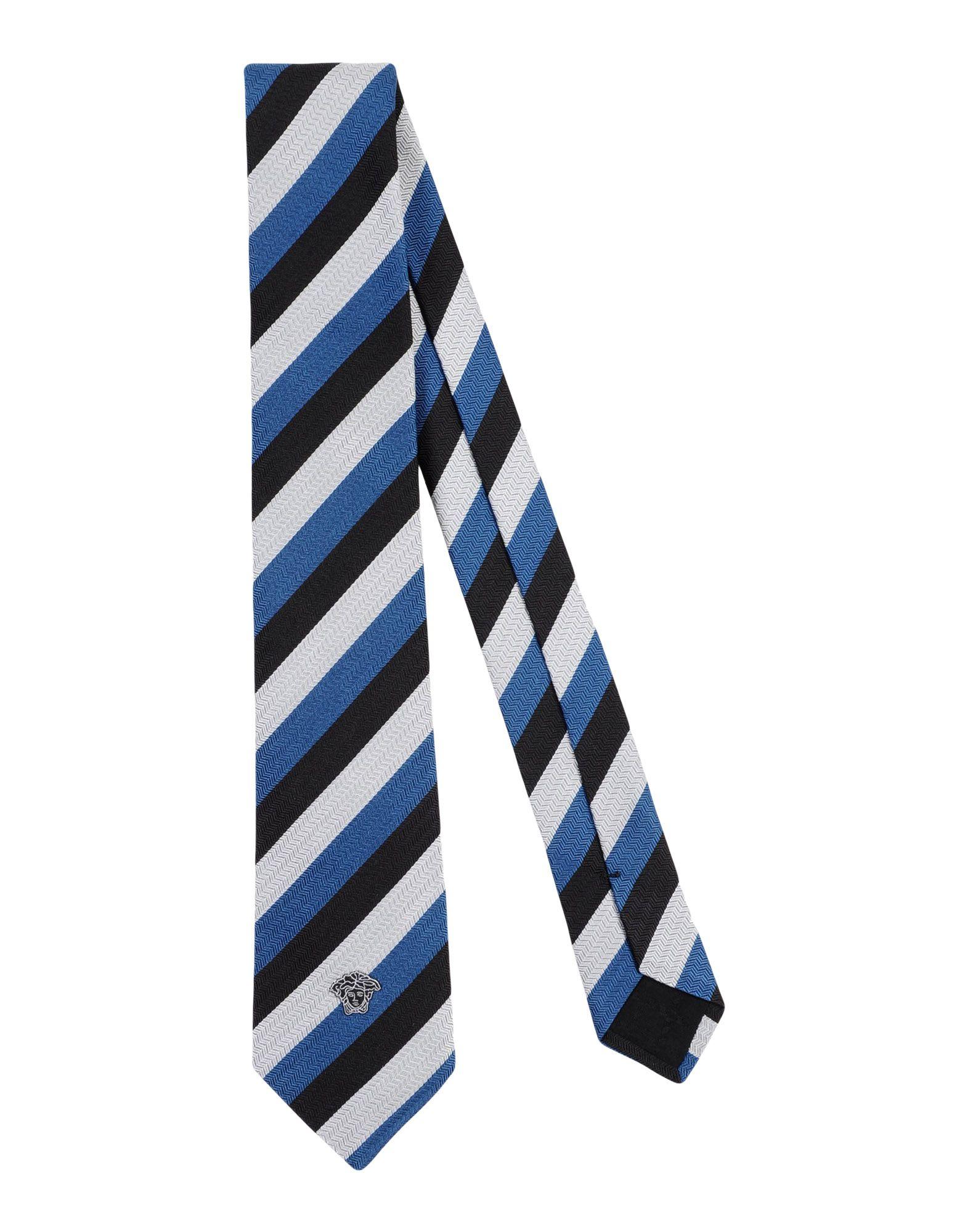 VERSACE Галстук versace бордовый галстук в клетку внизу с логотипом versace 821752 page 4
