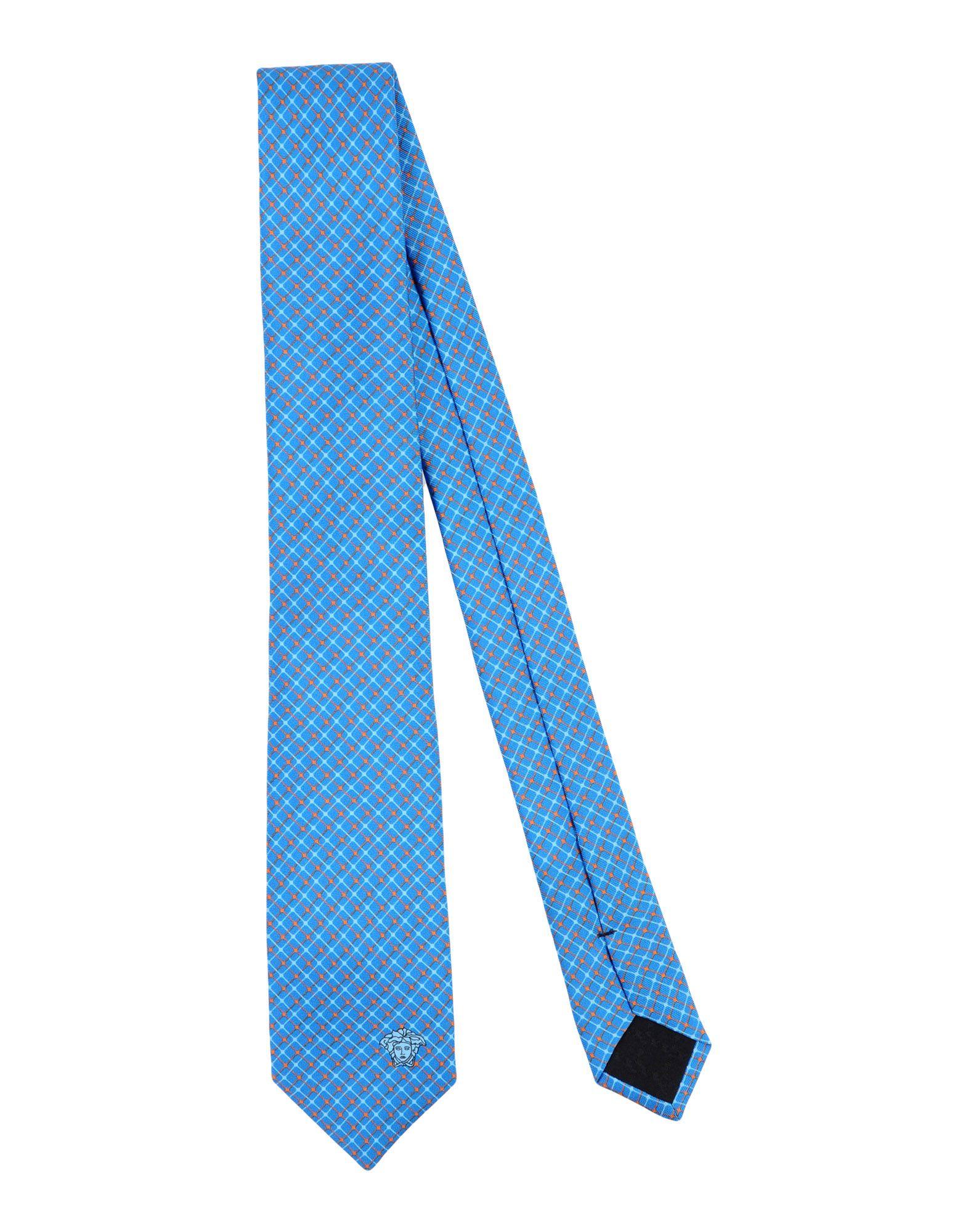 VERSACE Галстук versace бордовый галстук в клетку внизу с логотипом versace 821752