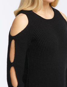 ARMANI EXCHANGE COLD SHOULDER CUTOUT SWEATER Pullover Woman e