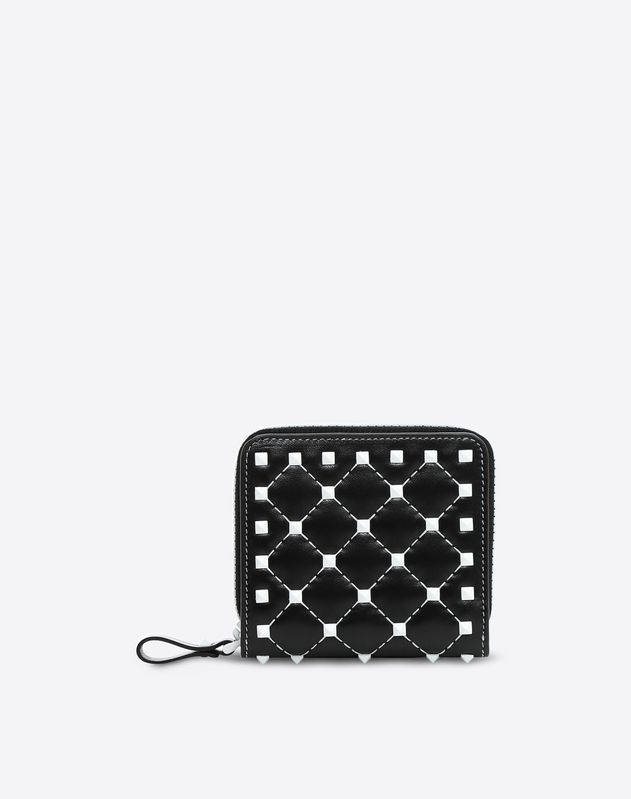 b6c8f24b17 Free Rockstud Spike Compact Wallet for Woman | Valentino Online Boutique