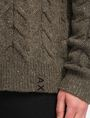 ARMANI EXCHANGE WOOL BLEND CABLE CREW SWEATER Pullover Man e
