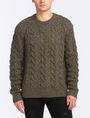 ARMANI EXCHANGE WOOL BLEND CABLE CREW SWEATER Pullover Man f