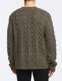 ARMANI EXCHANGE WOOL BLEND CABLE CREW SWEATER Pullover Man r