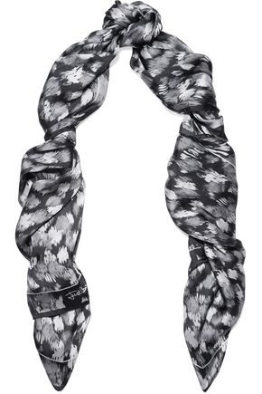 JUST CAVALLI Printed silk scarf