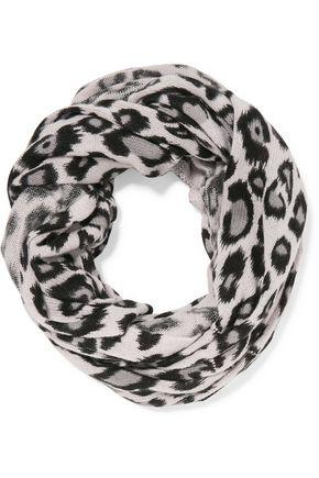 AUTUMN CASHMERE Leopard-print cashmere scarf