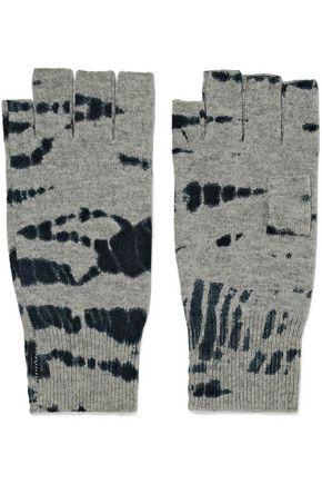 AUTUMN CASHMERE Tie-dye cashmere fingerless gloves