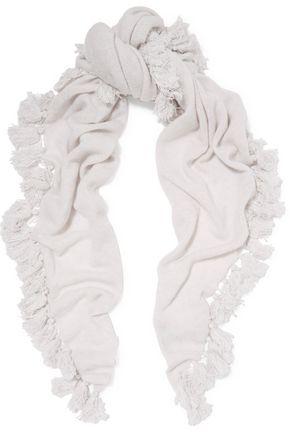 AUTUMN CASHMERE Tasseled cashmere scarf