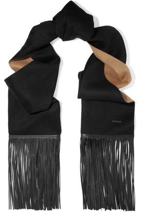 AGNONA Fringed wool scarf