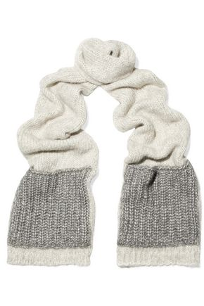 SANDRO Paris Color-block knitted scarf