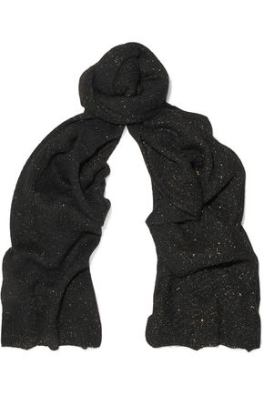 SANDRO Metallic knitted scarf