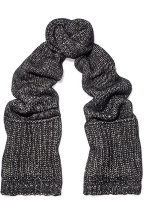 SANDRO Color-block knitted scarf