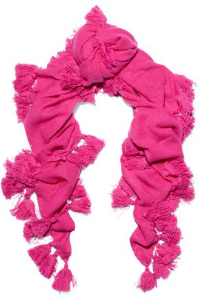 AUTUMN CASHMERE Tassel-embellished cashmere scarf