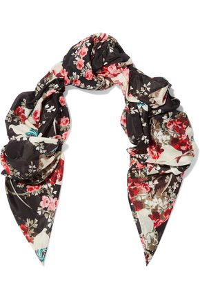 RAG & BONE Kimono floral-print cotton and silk-blend scarf