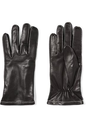 SANDRO Adrian leather gloves