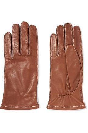 SANDRO Adrian leather gloves