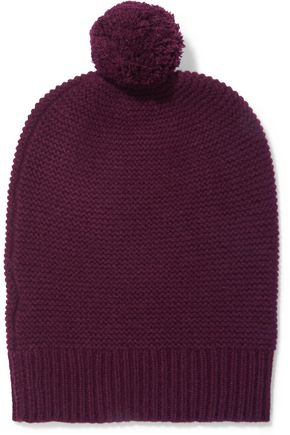 N.PEAL Pompom-embellished cashmere beanie