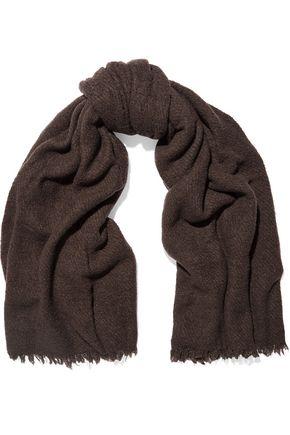 RICK OWENS Distressed wool-blend scarf