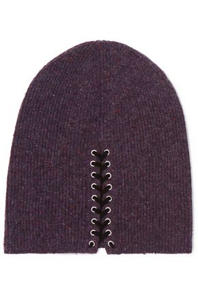 AUTUMN CASHMERE Lace-up cashmere beanie