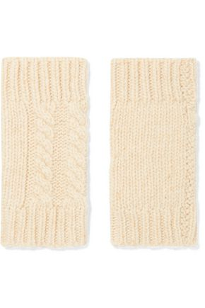 AUTUMN CASHMERE Cable-knit cashmere fingerless gloves