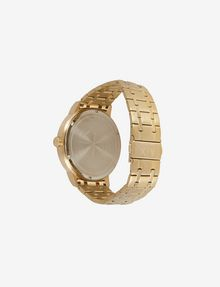 ARMANI EXCHANGE TEXTURED DIAL GOLD-TONE WATCH Uhr Herren d