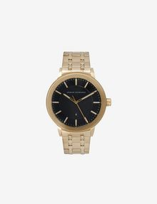ARMANI EXCHANGE TEXTURED DIAL GOLD-TONE WATCH Fashion Watch [*** pickupInStoreShippingNotGuaranteed_info ***] f