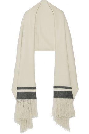 ISABEL MARANT Fringed striped cashmere scarf